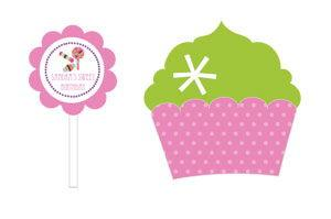 Sweet Shoppe Party Cupcake Wrappers & Cupcake Toppers (Set o image