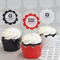 Vegas Cupcake Wrappers & Cupcake Toppers (Set of 24)