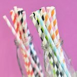 Striped Paper Straws (Set of 25)