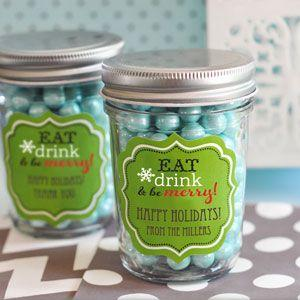 Personalized Winter Mini Mason Jars image