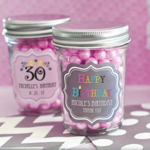 Birthday Mini Mason Jars image