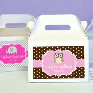 Personalized Baby Animal Mini Gable Boxes (set of 12) image