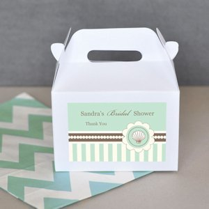 Bridal Shower Beach Theme Favor Boxes (Set of 12) image