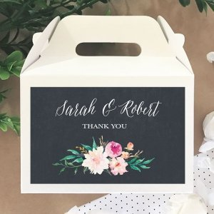 Personalized Floral Garden Mini Gable Boxes image