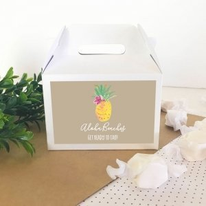Personalized Tropical Beach Mini Gable Boxes image