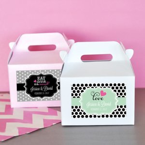Personalized Mini Wedding Gable Boxes (Set of 12) image