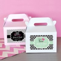 Personalized Mini Wedding Gable Boxes (Set of 12)