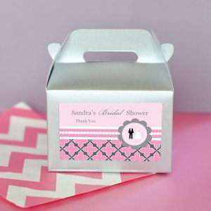 Wedding Shower Mini Gable Boxes (Set of 12) image