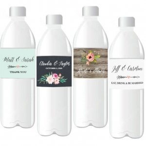 Personalized Floral Garden Water Bottle Labels image