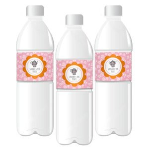 Tea Party Personalized Water Bottle Labels image