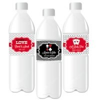 'A Lucky Pair' Personalized Wedding Water Bottle Labels