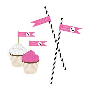 Bachelorette Party Personalized Flag Labels image