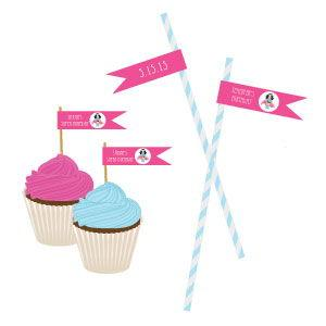 Super Hero Girl Birthday Personalized Flag Labels image