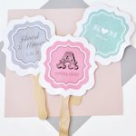 Personalized Fans for Weddings - Paddle Style