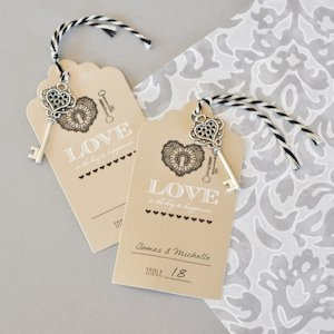 'Key to Happiness' Wedding Escort Cards image