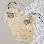 'Key to Happiness' Wedding Escort Cards