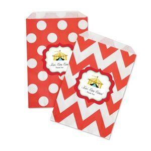 Circus Carnival Chevron & Dots Goodie Bags (set of 12) image
