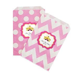 Pink Circus Party Chevron & Dots Goodie Bags (set of 12) image