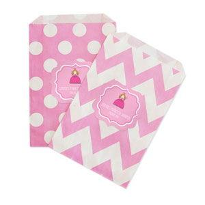 Princess Party Chevron & Dots Goodie Bags (set of 12) image