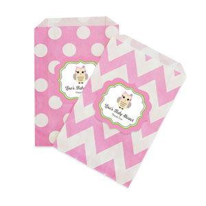 Pink Owl Chevron & Dots Goodie Bags (set of 12) image