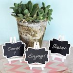 Framed Chalkboard Place Card Holders