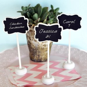 Framed Chalkboard Place Card Stands image