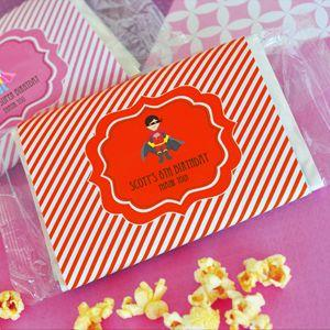 Personalized MOD Kid's Birthday Microwave Popcorn Bags image