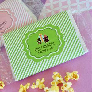 Personalized Birthday Microwave Popcorn Bags image