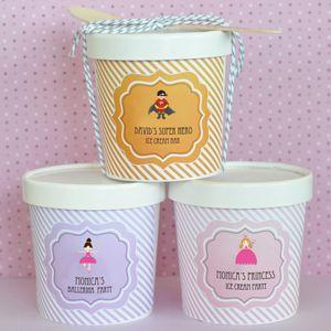Personalized MOD Kid's Birthday Mini Ice Cream Containers image