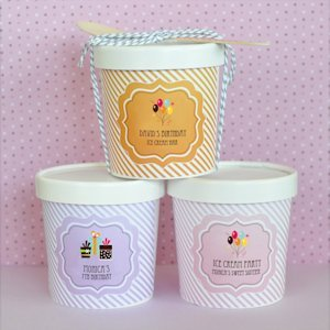 Birthday Mini Ice Cream Containers image