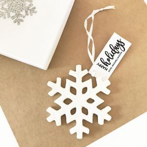 Personalized Snowflake Ornaments image