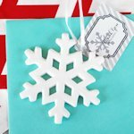 Porcelain Snowflake Ornament Wedding Favors