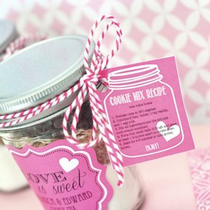 Cookie Mix Mason Jar Recipe Tags image