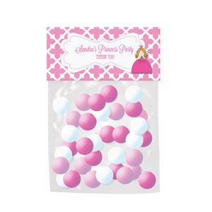 Princess Party Personalized Candy Bag Toppers image