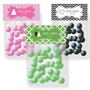 Personalized Wedding Theme Candy Bag Toppers image