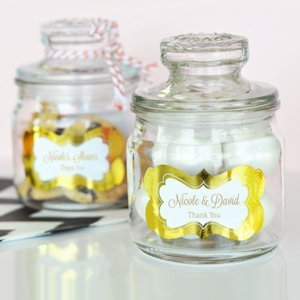 Personalized Metallic Foil Mini Cookie Jars image