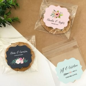Personalized Floral Garden Clear Candy Bags (Set of 24) image