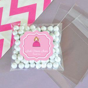 Personalized Princess Party Clear Candy Bags (Set of 24) image