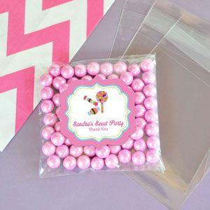 Personalized Sweet Shoppe Clear Candy Bags (Set of 24) image