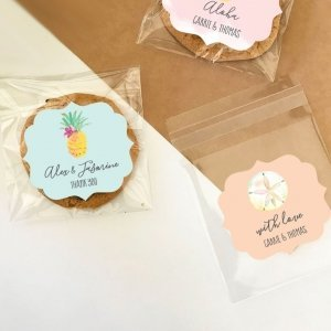 Personalized Tropical Beach Clear Candy Bags (Set of 24) image
