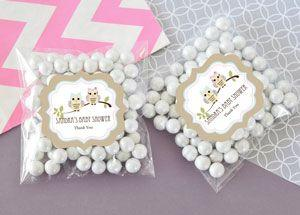 Personalized Woodland Owl Clear Candy Bags (Set of 24) image