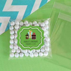 Personalized Birthday Clear Candy Bags (Set of 24) image
