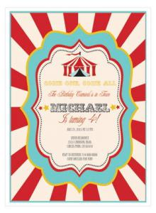 Circus Carnival Party Invitations image