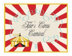Circus Carnival Party Sign image