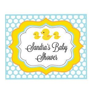 Rubber Ducky Party Sign image