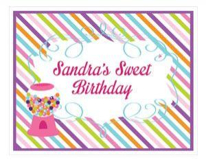 Sweet Shoppe Party Sign image