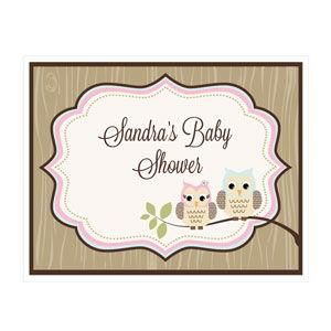 Woodland Owl Party Sign image