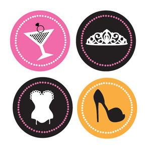 Bachelorette Party Decorative Mini Stickers (Set of 32) image