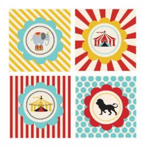 Circus Carnival Party Decorative Favor Tags (Set of 20) image