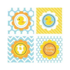 Rubber Ducky Decorative Favor Tags (Set of 20) image